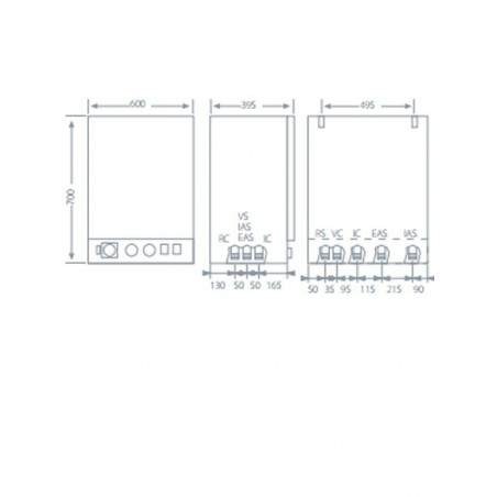 Caldera eléctrica Domusa HDCS 45/90 Acumulador 50 L.