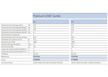Ficha Baxi Platinum GTAF Combi 32