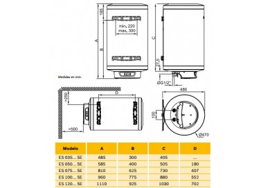 Termo eléctrico Elacell Excellence ES 120-5E