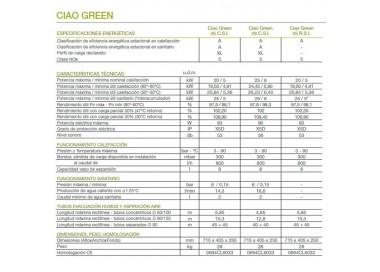 Caldera de gas de condensación Beretta Ciao Green 25 C.S.I.