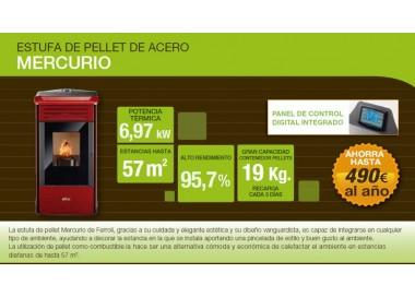 Estufa de pellets Ferroli Mercurio