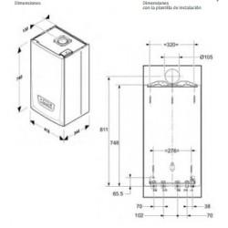 Caldera de gas de condensación Saunier Duval Themafast Condens 25