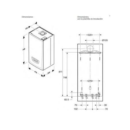 Caldera de condensación Saunier Duval Themafast Condens 25 Control