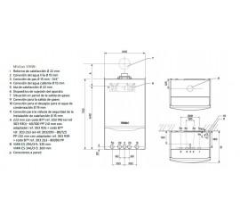 Medidas Vaillant EcoTec Plus VMW ES 246/5-5