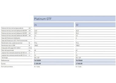 Caldera de condensación Baxi Platinum 32 GTF