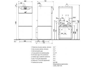 Caldera de condensación Baxi Platinum GTAF 24