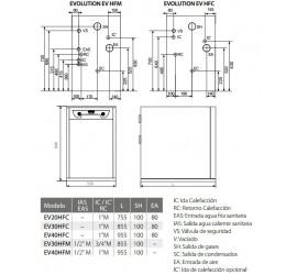 Caldera de gasoleo Domusa  Evolution EV 30 HFC