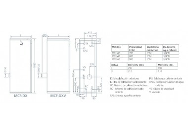 Caldera de gasoil Domusa MCF 40 HDXV E con acumulador 130l.