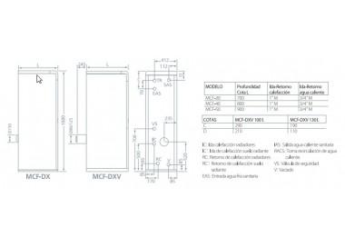 Caldera de gasoleo Domusa MCF 40 HDX E con Kit SRX2 con acumulador 100l.