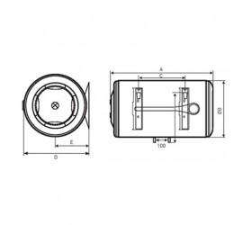 Medidas Termo eléctrico Baxi V280