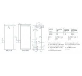 Caldera de gasoil Domusa MCF 40 HDX con Kit SRX1 con acumulador 100l.