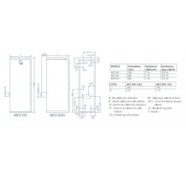 Caldera de gasoleo Domusa MCF 40 HDX con Kit SRX1 con acumulador 130l.