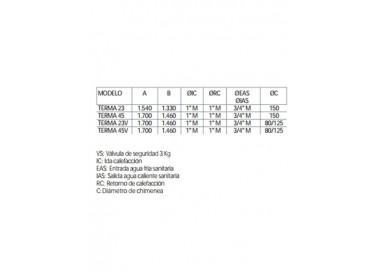 Caldera de gasoil Domusa Terma 45 HV Sin Kit Suelo Radiante