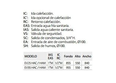 Caldera de gasoil Domusa Evolution EV 25 HAC