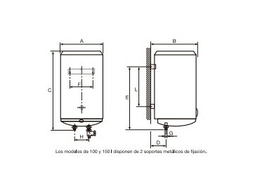Termo eléctrico Cointra TDG-150