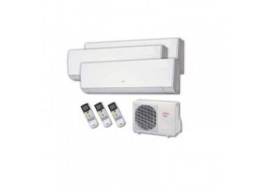 Aire acondicionado 3x1 Fujitsu AOY71UI-MI3+ 2 interiores ASY20MI-LM + 1 interior ASY25MI-LM