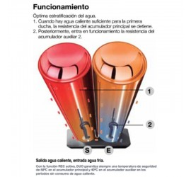 Termo eléctrico Fleck Duo5 80 EU