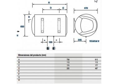Termo eléctrico Fleck TH 100