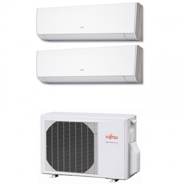 Aire Acondicionado Fujitsu 2x1 con externa AOY50Ui-MI2+ ASY 25 MI-LM+ASY 25 MI-LM