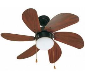 Ventilador de techo Faro Palao marrón.