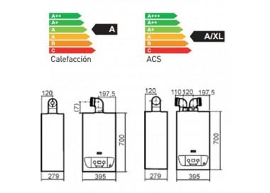 Cadera de gas de condensación Baxi Victoria Condens 24/24 F