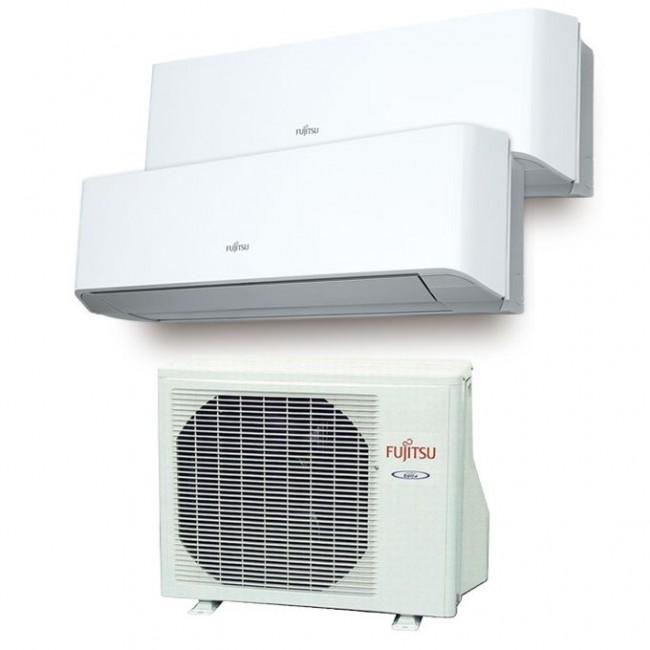 Aire Acondicionado Fujitsu 2x1 con externa AOY50Ui-MI2+ ASY 20 MI-LM+ASY 35 MI-LM