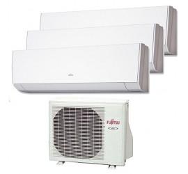 Aire Acondicionado Fujitsu 3x1 AOY50UI-MI3+ tres interiores ASY20MI-LM
