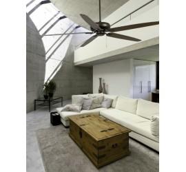 Ventilador de techo Faro Nisos marrón