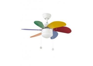 Ventilador de techo Faro Palao multicolor