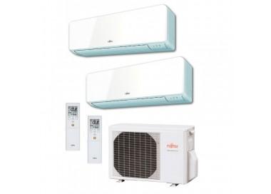 Aire Acondicionado Fujitsu 2x1 con externa AOY50Ui-KB+ ASY 25 MI-KM+ASY 35 MI-KM