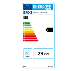 Baxi Argenta GTF 24 Condens etiqueta de eficiencia energética