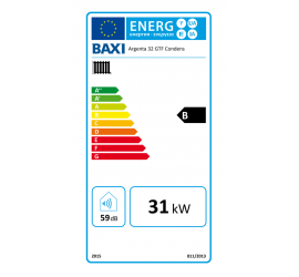 Baxi Argenta GTF 32 Condens etiqueta de eficiencia energética