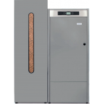 Caldera de Pellet Domusa Bioclass iC 12 con deposito de reserva