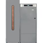 Caldera de Pellet Domusa Bioclass iC 25 con deposito de reserva