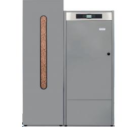 Caldera de Pellet Domusa Bioclass iC 35 con deposito de reserva