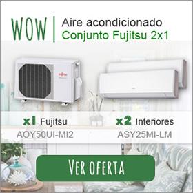 OFERTA - Conjunto aire acondicionado Fujitsu 2x1
