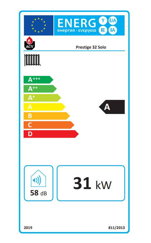 ACV prestige solo 32 eficiencia energética