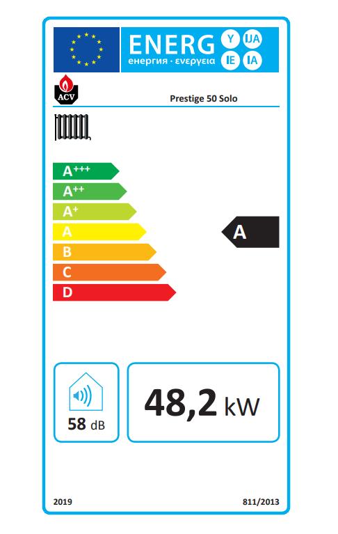 ACV prestige solo 50 eficiencia energética