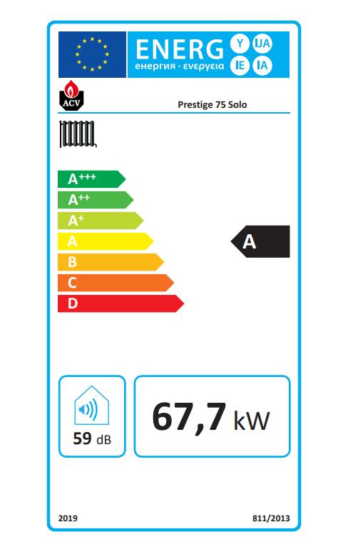 ACV prestige solo 75 eficiencia energética