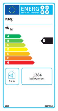 Termo Eléctrico Fleck Duo7 30 EU etiqueta de eficiencia energética