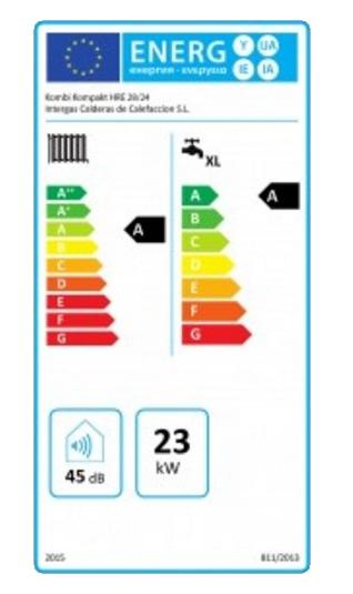 Intergas Kombi Kompakt hre 28-24 etiqueta de eficiencia energética