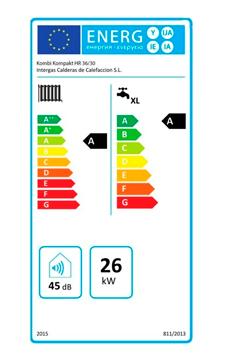 Intergas Kombi Kompakt hre 36-30 etiqueta de eficiencia energética