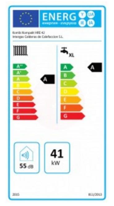 Intergas Kombi Kompakt hre 42 etiqueta de eficiencia energética
