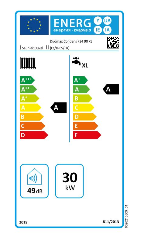 Saunier Duval Duomax Condens 35-90 eficiencia energetica