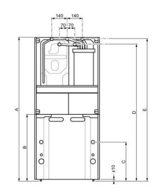 Saunier Duval Duomax Condens dimensiones y medidas instalación