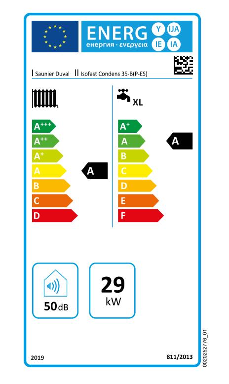 Saunier Duval Isofast Condens 35 B etiqueta energética