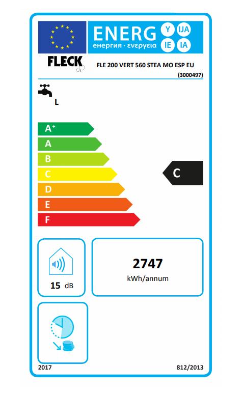 Termo eléctrico Fleck Elba 200 EU eficiencia energética