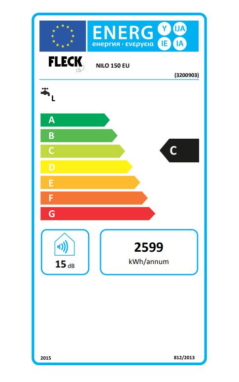 Termo eléctrico Fleck Nilo 150 EU etiqueta de eficiencia energética