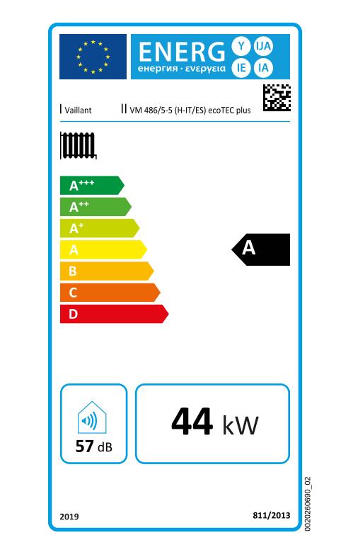Vaillant EcoTec VM 486 ES 5-5 etiqueta eficiencia energética