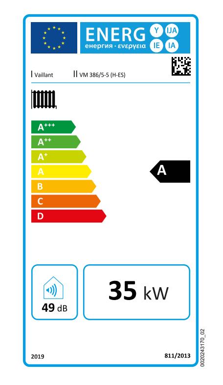 Vaillant Ecotec Plus VM ES 386 5-5 etiqueta de eficiencia energética